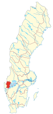 Location of the province Dalsland