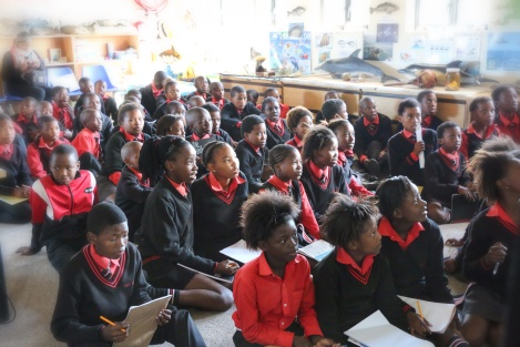 School children learning more about conserving our marine environment