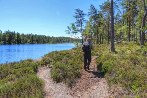 Hiking along lakes and through open forests