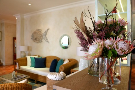 The decor at The Plettenberg is inspired by marine colours