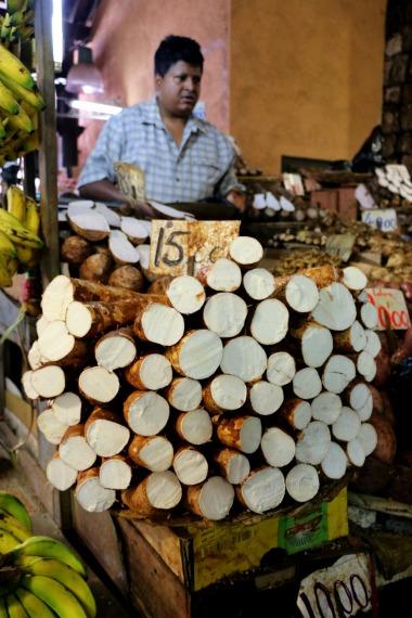 A stack of manioc