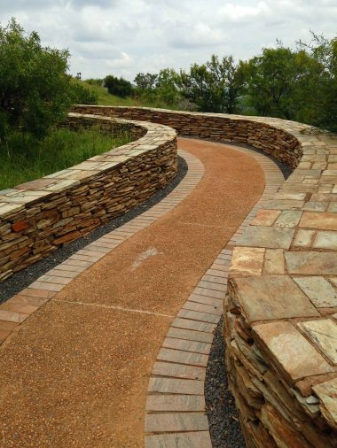 One of the many ambling pathways at Freedom Park