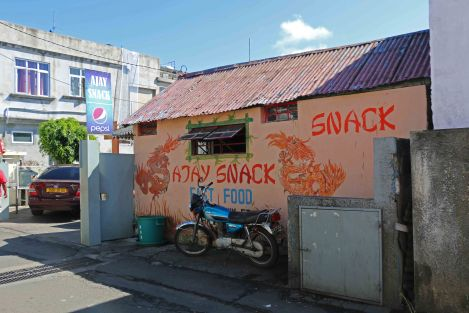 Ajay's Snack is tucked away on a side street in bustling Quatre Bornes