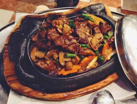 Sizzling plate: my favourite