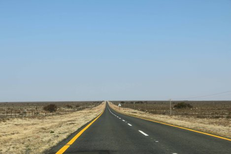 Endless roads through the barren Great Karoo