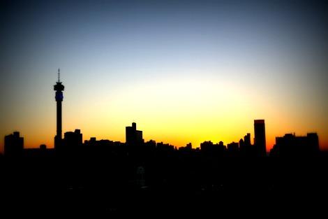 Sunrise over Johannesburg, the heart of South Africa