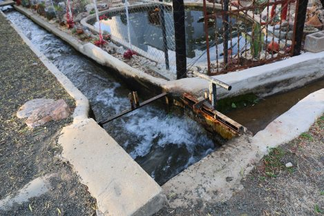 The ever-flowing water sluices from which each household get their share