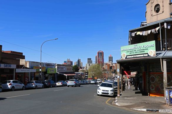 Fordsburg, with downtown Johannesburg in the distance