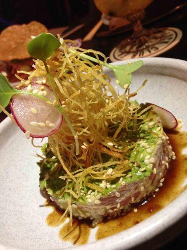 Asian style beef tartare