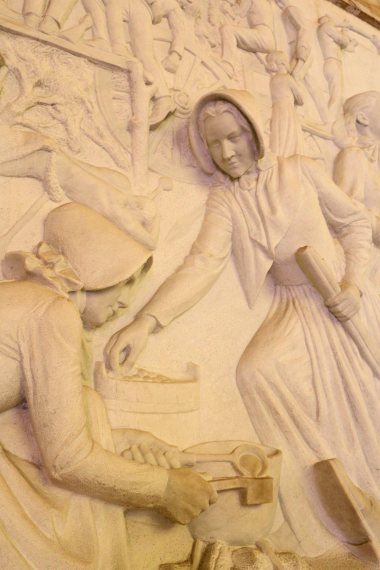 Detail from the marble frieze