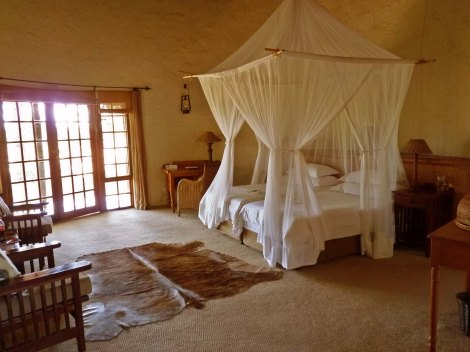 The rooms at Motswari are impossibly romantic