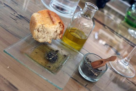 Homebaked bread with locally produced olive oil and the most amazing homemade seaweed spice mix