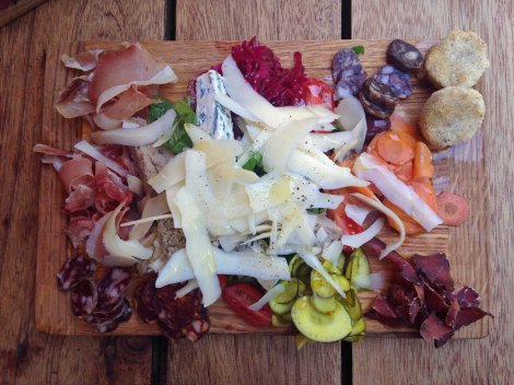 Few things are nicer than a platter of local cheeses, cold cuts and pickles