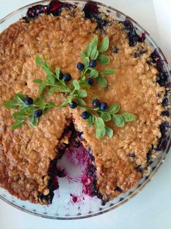 Blueberry pie (keep your eyes peeled for the recipe which is coming soon!)