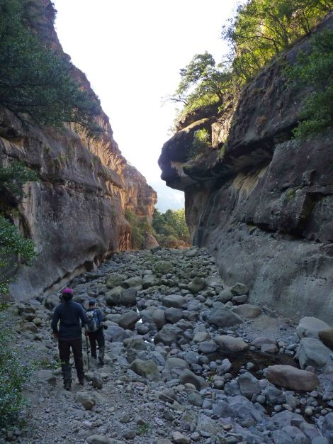 The Tugela Gorge. At the end of winter, it is very dry but as soon as the summer rains start coming this part will definitely get your feet wet!