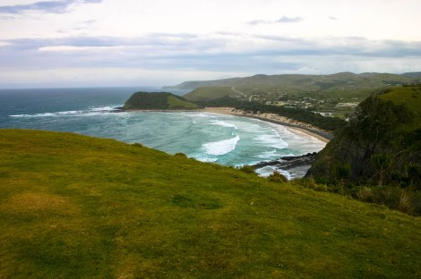 Soft grass, rolling hills (although steep to get up onto) and nothing but the Indian Ocean as far as the eye can see!