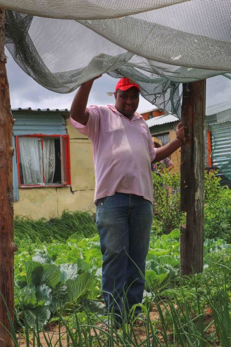 One of Masakhane's proud gardeners